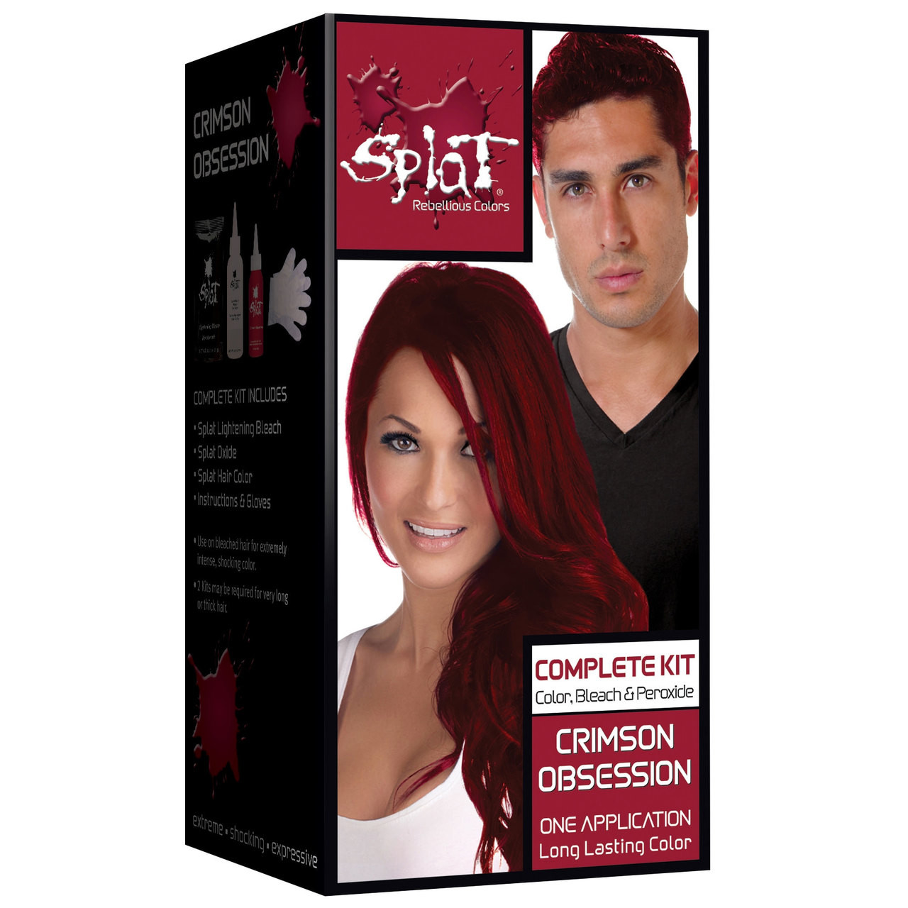 Splat Rebellious Colors Semi Permanent Hair Dye Crimson Obsession
