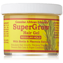 African Formula SuperGrow Hair Gel Regular Hold 4 oz