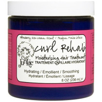 Curl Junkie Curl Rehab Moisturizing Hair Treatment, Strawberry Ice-Cream Scent 8 oz