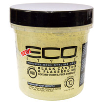 Eco Style Black Castor & Flaxseed Oil Styling Gel 8 oz