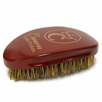 Crown 360 Gold Caesar Brush, Burgundy - Med/Soft Bristle