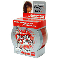 Worlds of Curls Edge Gel with Argan Oil, Maximum Hold 2.25 oz