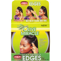 African Pride Olive Miracle Silky Smooth Edges Hair Gel 2.25 oz