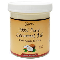 BMB 100% Pure Coconut Oil for Hair and Skin Puro Aceite De Coco, 16 oz