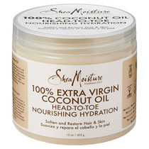 Shea Moisture 100% EXtra-Virgin Coconut Oil, Head-To-Toe Nourishing Hydration 15 oz