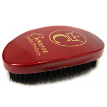 Crown 360 Gold Caesar Brush, Crimson Red - Soft Bristle