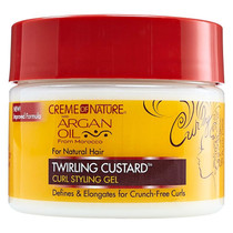 Creme of Nature Argan Oil Twirling Custard Curl Styling Gel 11.5 oz