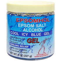 Epsomhol Epsom Salt Alcohol Cool Icy Blue Gel 8 oz