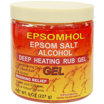 Epsomhol Epsom Salt Alcohol Deep Heating Rub Gel 8 oz