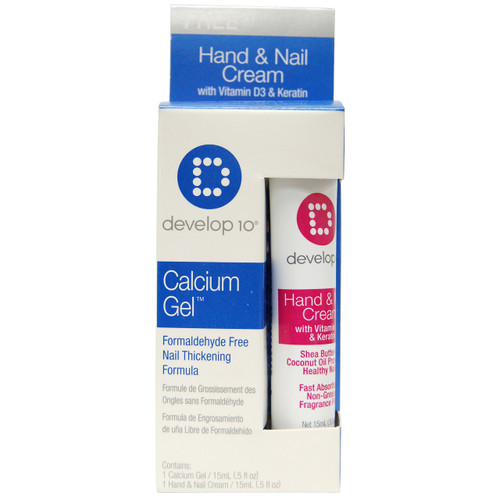 Develop 10 Calcium Gel, Formaldehyde Free Nail Thickening Formula, 15 ml