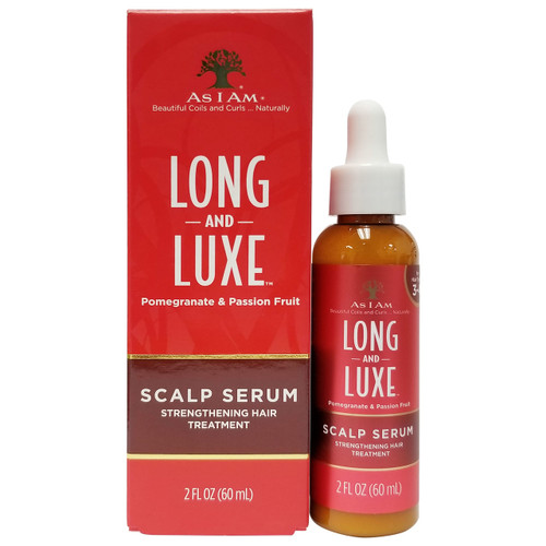 As I Am Long & Luxe Scalp Serum Strengthening Hair Treatment, 2 oz