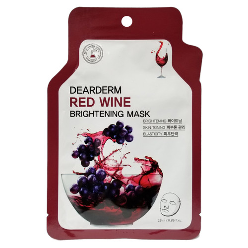 Dear Derm Red Wine Bright Face Mask
