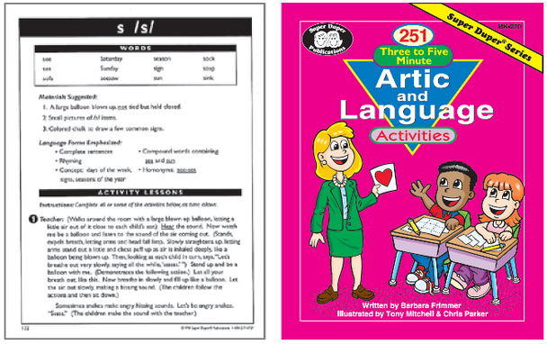 251 Three to Five Minute Artic & Language Activities