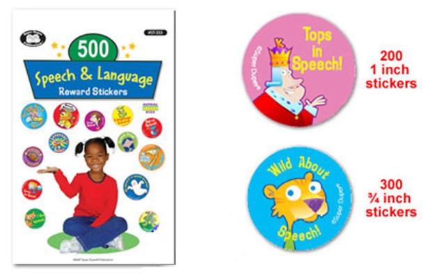 500 Speech & Language Reward Stickers