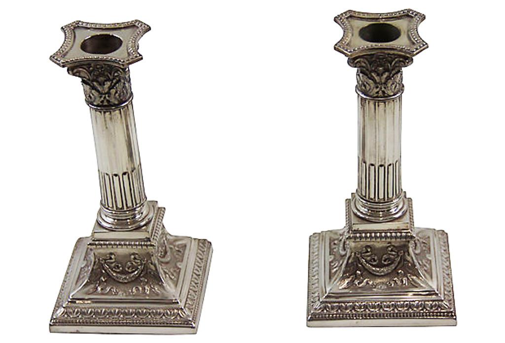 1870s Candlesticks, Pair