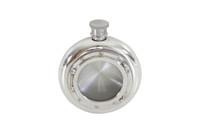 Porthole English Pewter Flask