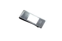 Engine Turned Silver Plated Money Clip