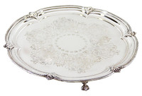 "13"" Engraved Footed Salver"