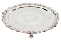 """13.75"""" Silver Plate Footed Salver C.1875"""