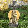 Solar Lighted God Bless You Angel Cross