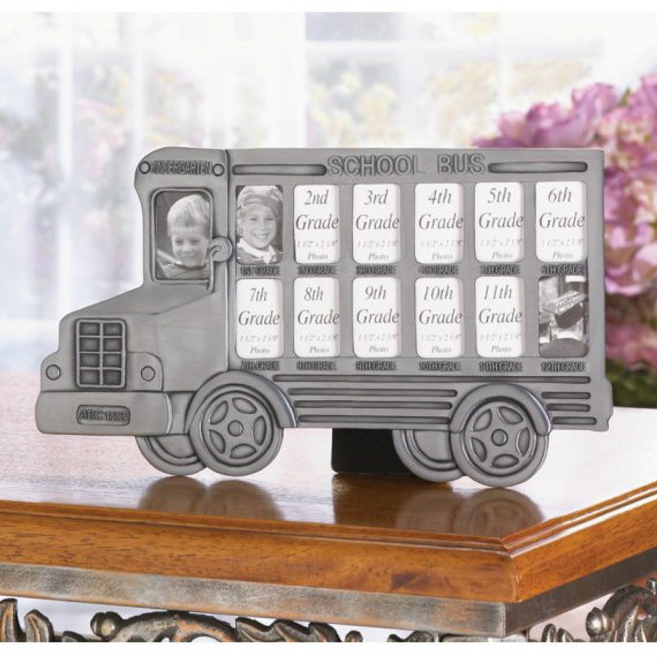 13-Year School Bus Picture Frame - AEWholesale
