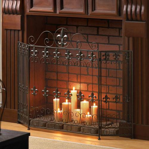 Fleur De Lis Fireplace Screen Aewholesale