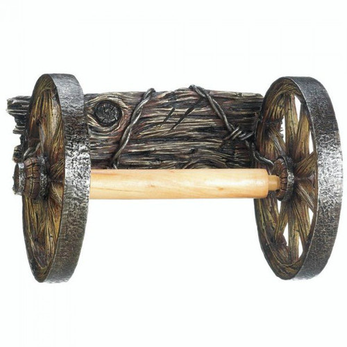 Wagon Wheel Toilet Paper Holder