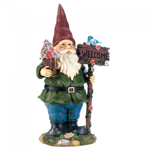 Wholesale Home Decor Merchandise Best 25 Ideas On Pinterest. Solar Welcome  Gnome With Light Up Bluebird