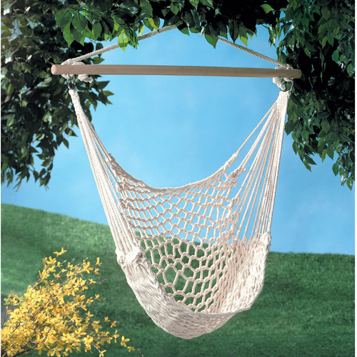 Recycled Cotton Swinging Hammock Chair