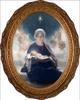 Star of Bethlehem Oval Framed Canvas