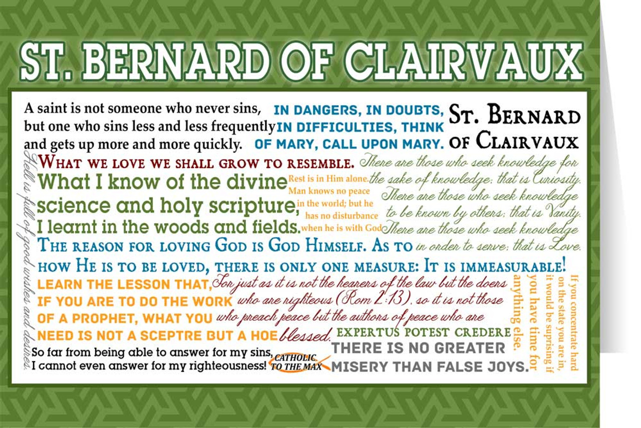 St Bernard Of Clairvaux Quotes: Saint Bernard Of Clairvaux Quote Card