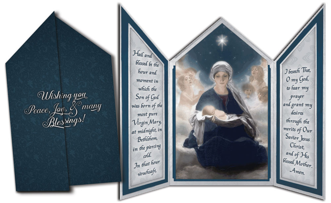 star of bethlehem tri fold triptych christmas cards - Tri Fold Christmas Cards