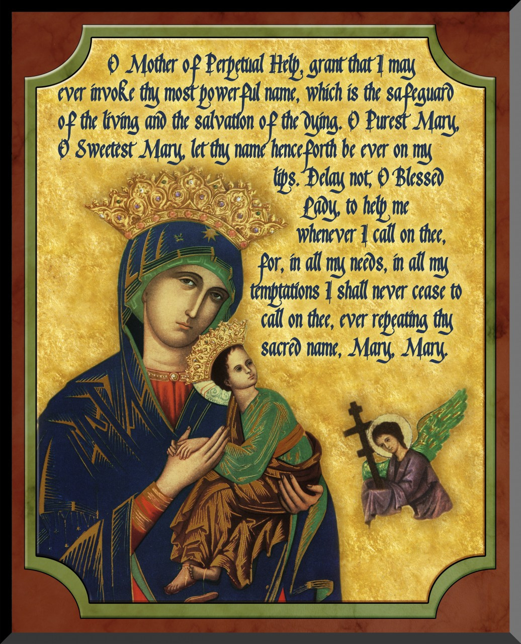 Mother of Perpetual Help Graphic Wall Plaque - Catholic to the Max ...