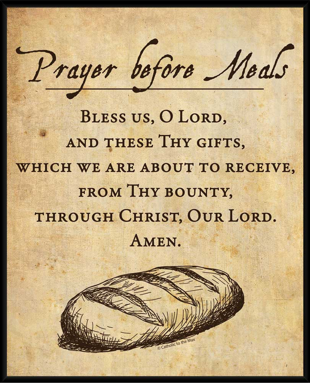 Prayer Before Meals Wall Plaque - Catholic to the Max - Online ...