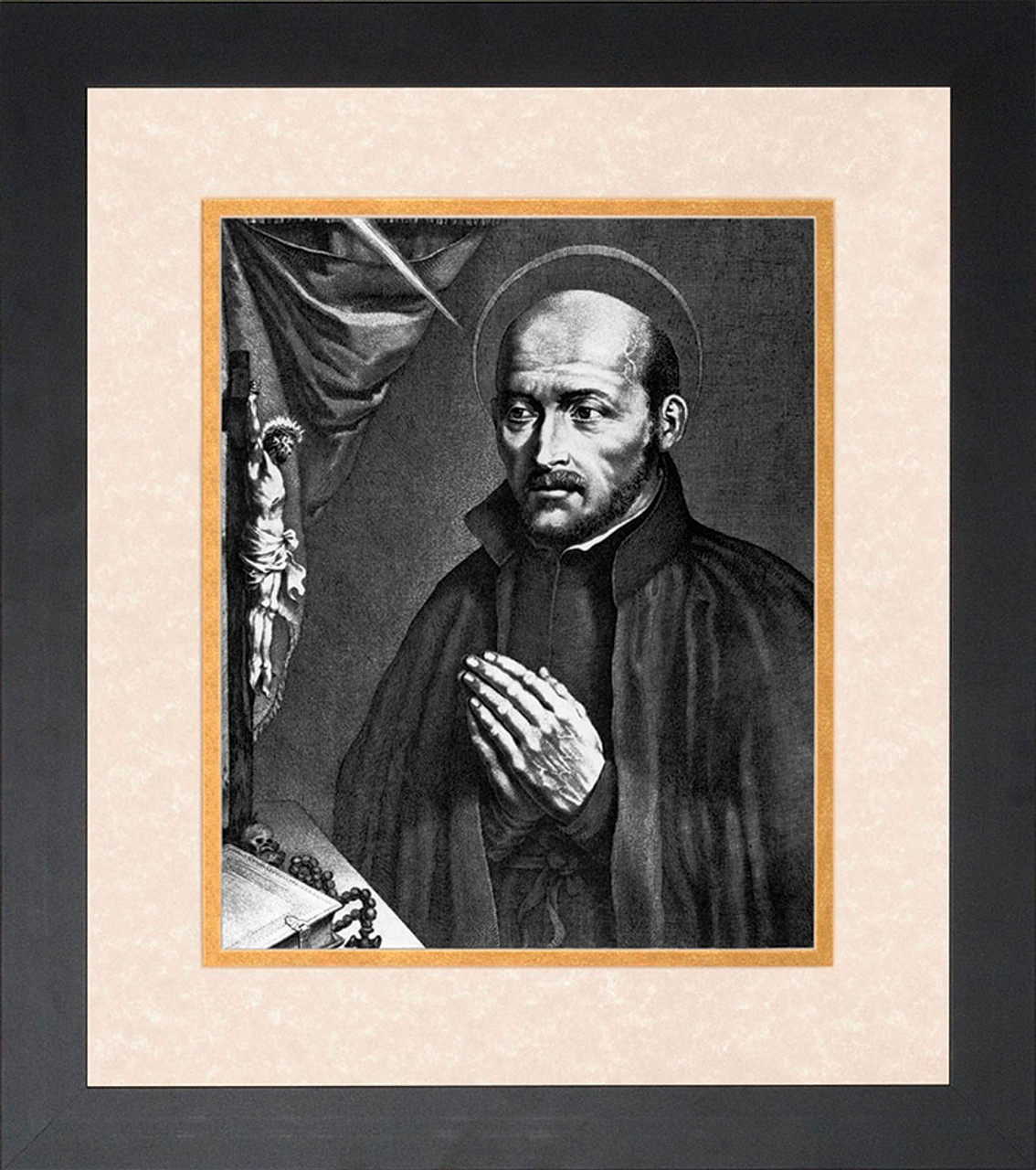 St Ignatius Of Loyola Matted Framed Art Catholic To The