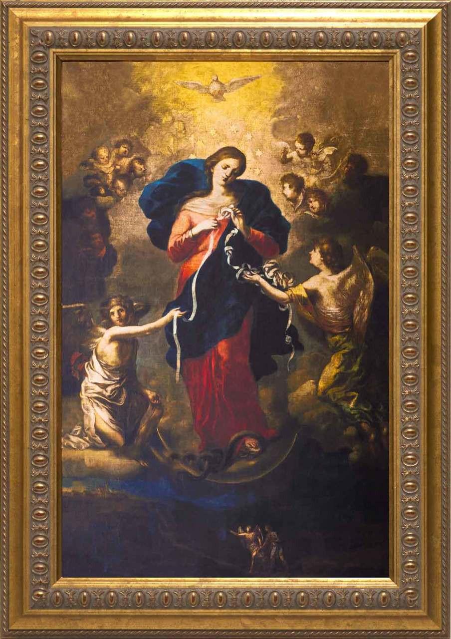 Mary Undoer Of Knots Framed Art Ornate Gold Frame