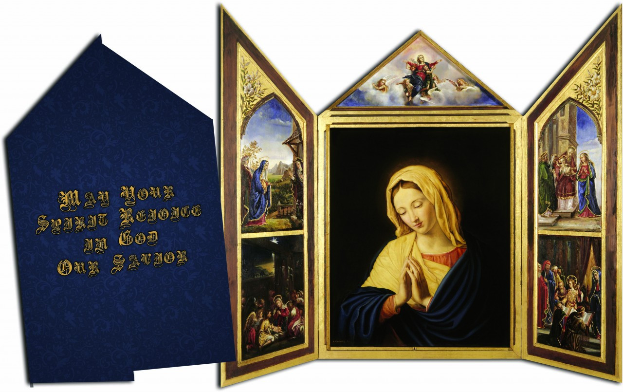 may your spirit rejoice in god our savior tri fold christmas cards - Tri Fold Christmas Cards