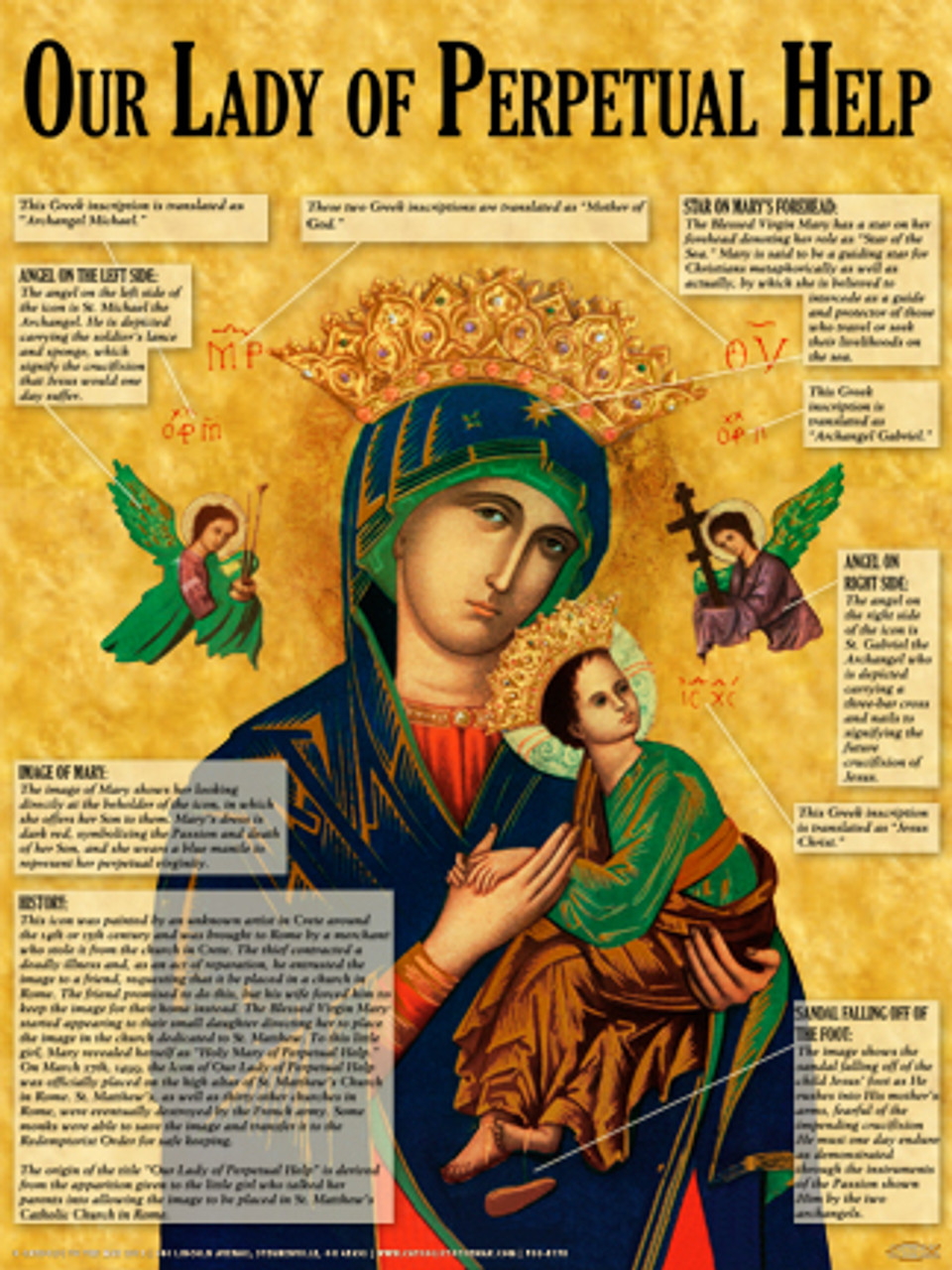 Mother Of Perpetual Help Explained Poster Catholic To