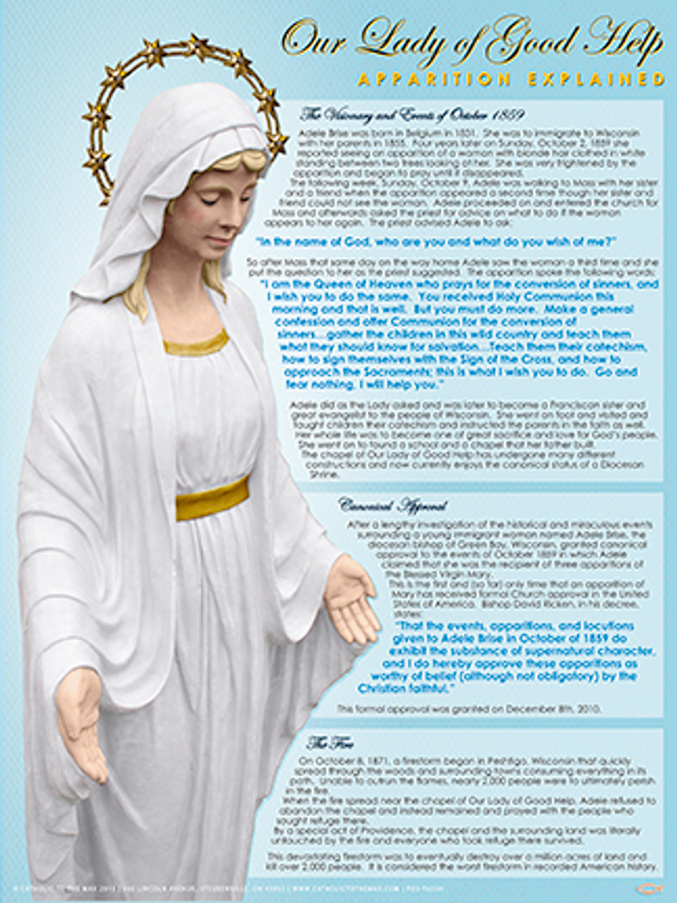 Our Good Life Top Ten Rainbow Cupcakes: Our Lady Of Good Help Apparition Explained Poster