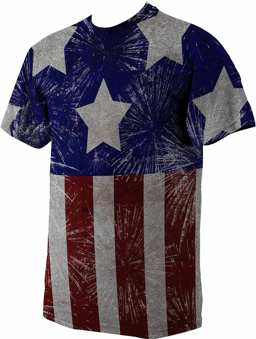 American Flag Graphic Poly T Shirt Catholic To The Max