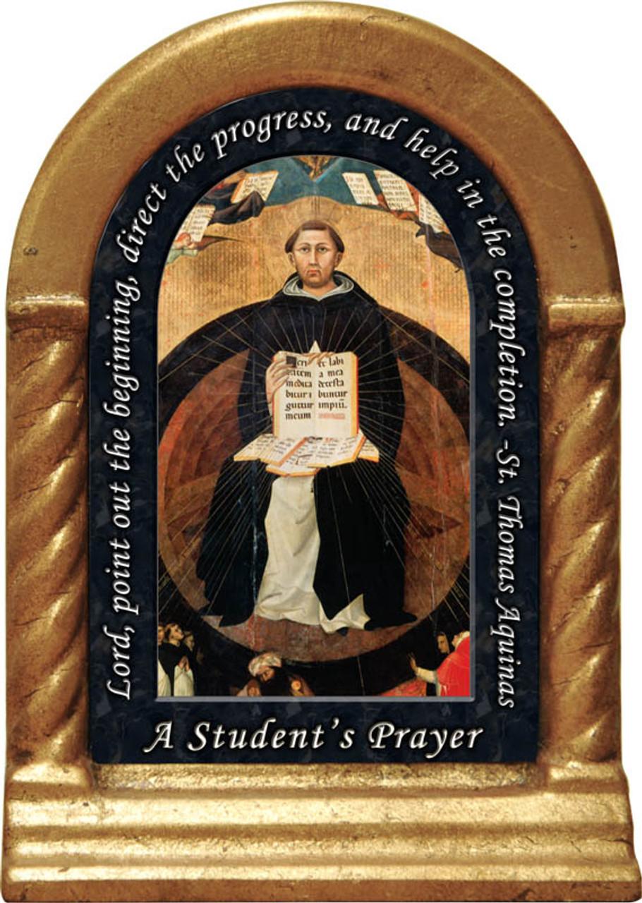 St Thomas Aquinas Prayer Desk Shrine Catholic To The