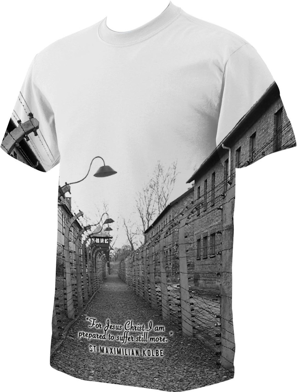 St. Maximilian Kolbe Auschwitz T-Shirt - Catholic to the Max ...