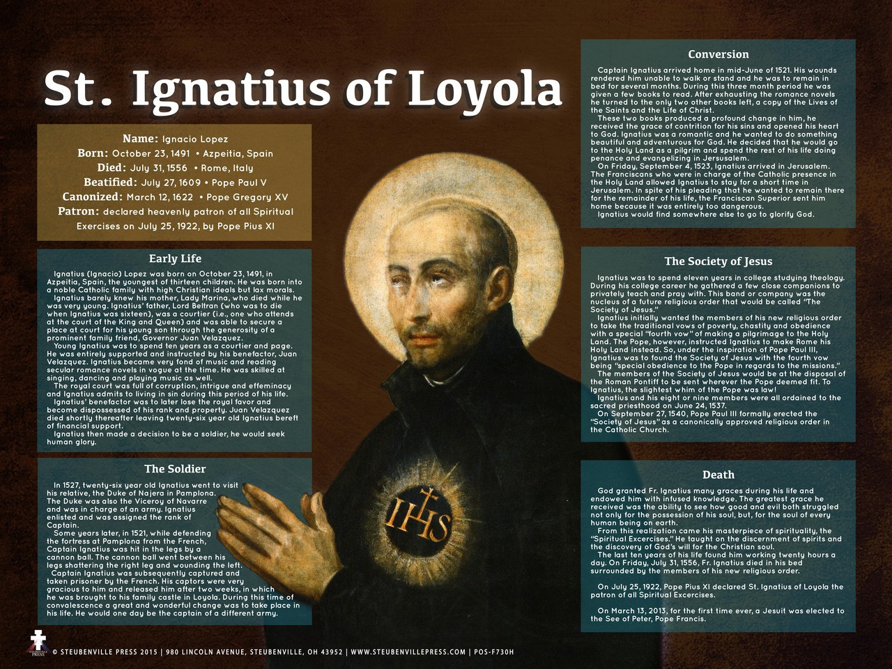 st ignatius of loyola On today's feast of st ignatius loyola, let us recall the trinitarian figure that  enraptured him, recorded in the reminiscences (section 28.