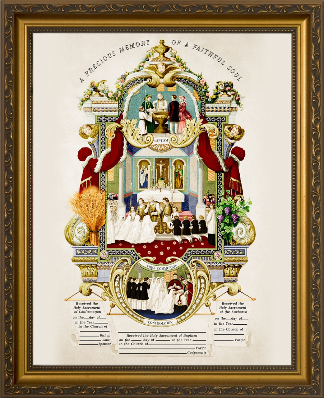 Traditional sacraments of initiation record certificate in gold traditional sacraments of initiation record certificate in gold frame biocorpaavc Image collections