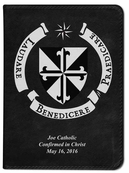 Personalized Catholic Bible with Dominican Shield Cover - Black NABRE