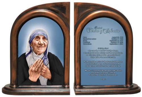 St. Teresa of Calcutta Prayer Bookend