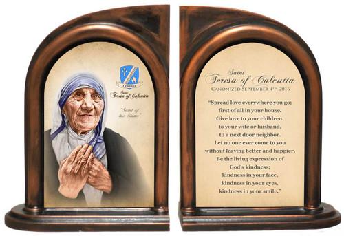 St. Teresa of Calcutta Quote Commemorative Bookend