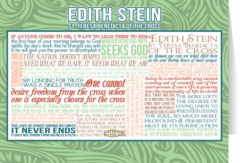 St. Edith Stein Teresa Benedicta Quote Card