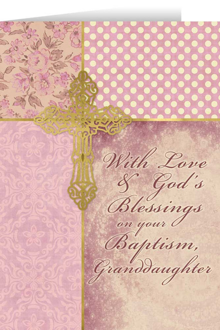 Granddaughter, On Your Baptism Greeting Card