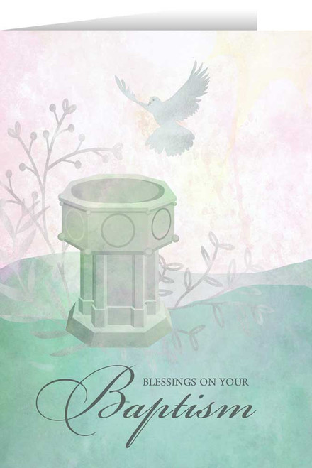 Blessings on Your Baptism Greeting Card